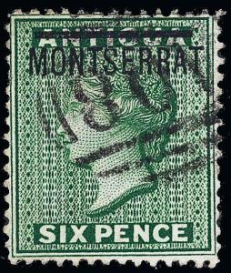 Montserrat Scott 2c Gibbons 2b Used Stamp