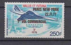 J29764, 1977 concord 1st flight wallis & futuna set of 1 mnh #c73 airplane