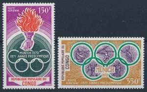 1971 Congo Brazzaville 312-313 1972 Olympic Games in Munchen 7,50 €