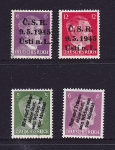Germany x 4 mint Hitler overprinted