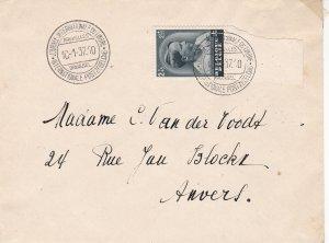 Belgium 1937 Journey of International Post Brussel Cancels Stamp Cover Ref 45556