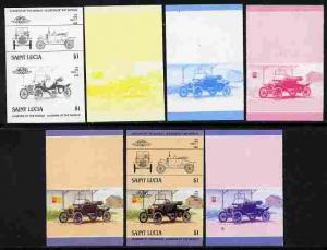 St Lucia 1984 Cars #2 (Leaders of the World) $1 Ford Mode...