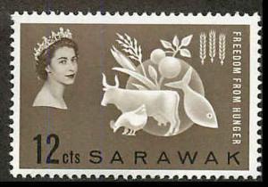 Sarawak 212 Mint VF LH