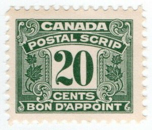 (I.B) Canada Revenue : Postal Note 20c