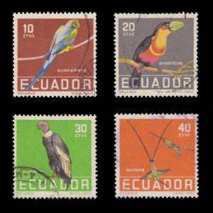 ECUADOR 1958 SCOTT # 634 - 37. USED.