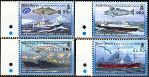 South Georgia 2008 Fisheries Set of 4 SG449-452 Very Fine MNH