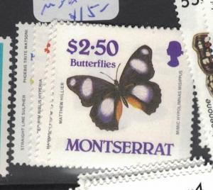Montserrat Butterfly SC 647-50 MNH (2dpn)