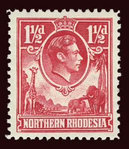 NORTHERN RHODESIA Scott #29 (SG 29) 1938 KGVI unused LH