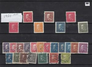 sweden 1921 mounted mint +used stamps cat £150 ref 7255