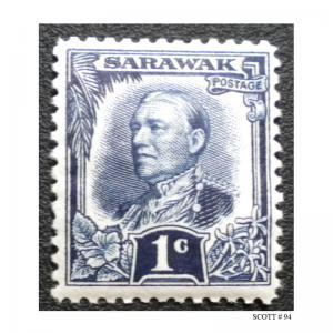 BRITISH SARAWAK STAMP. YEAR 1932. SCOTT # 94. UNUSED