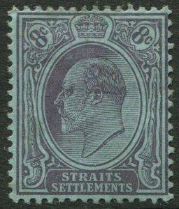STRAITS SETTLEMENTS-1905 8c Purple/Blue chalk-surfaced paper Sg 131a MM V50188