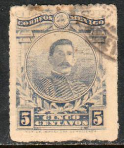 MEXICO 613, 5cents ROULETTED, USED. (334)