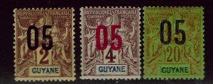 French Guiana SC#87-89 Mint F-VF...Worth a Close look!!