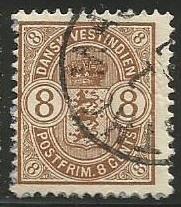 U.S. Scott #30 Danish West Indies Stamp - Used Single
