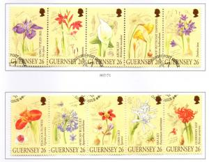 Guernsey Sc 719a-j 2000 Candie Gardens Flower stamps used