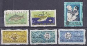 Viet Nam Sc Dem Rep 255-260 NGAI. 1963 issues, 3 set run VF