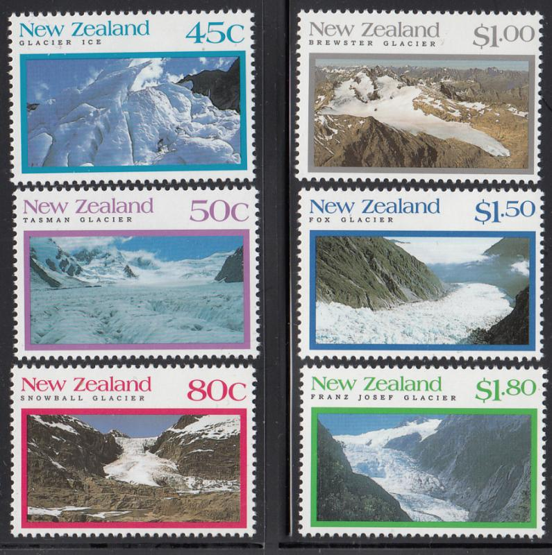New Zealand 1992 MNH Scott #1104-#1109 Glaciers