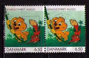DENMARK Sc# 1220 USED FVF PAIR Jungledyret Hugo Fox