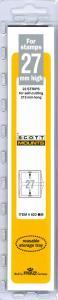 Scott Mounts Black,  27mm Strip 215 (pak 22) (00923B)*