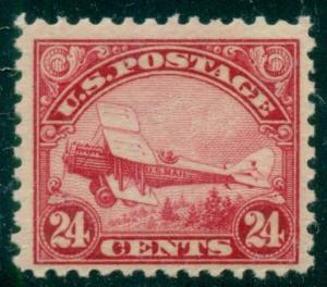 US #C6 24¢ carmine, og, NH, VF Scott $140.00