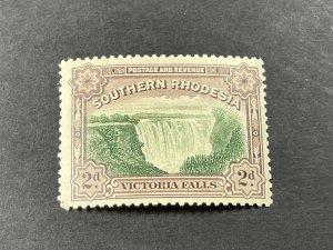 SOUTHERN RHODESIA # 37b-MINT/HINGED---P-12 1/2---SINGLE---1935-41