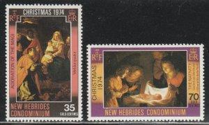 New Hebrides MNH 194-5 Christmas 194-5