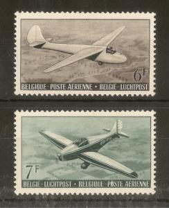 Belgium 1951 Aero Club SG1368-1369 Mint Cat£84