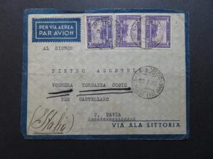 Somalia SC# 146a (x3 / 1 Pair) On 1936 Airmail Cover - Z10312