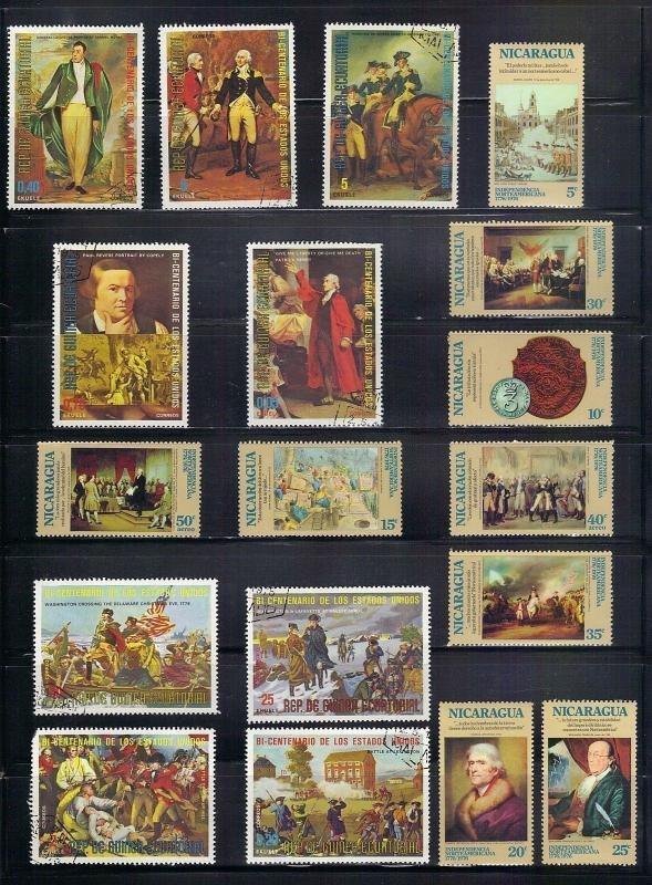 TheStampNut > WORLDWIDE TOPICAL COLLECTION OF OVER (100) DIFFERENT VARIETY