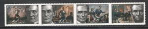 4380-83 Abraham Lincoln Strip Mint/nh FREE SHIPPING
