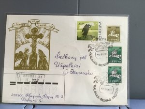 Lithuania 1991 stamps cover R29361