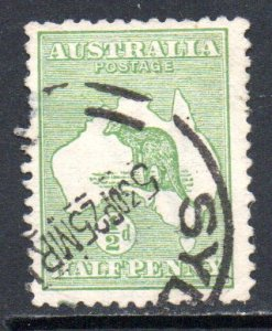 AUSTRALIA 1 USED SCV $7.50 BIN $3.00 MAP, KANGAROO