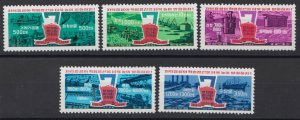 KOREA STAMPS 1978 PRODUCTION PLANNING 7 YEARS MNH POST MI. 1755 - 1759