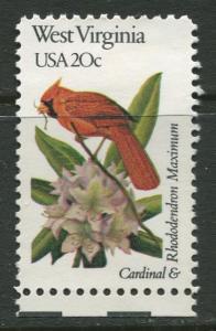 USA - Scott 2000 - State Birds & Flowers - 1982 - MNG - Single 20c Stamp