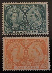 Canada #51-52 VF NH Jubilee C$270.00