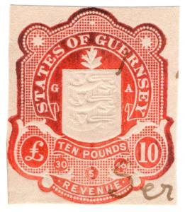 (I.B) Guernsey Revenue : Impressed Duty £10