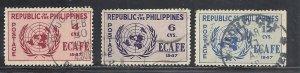 Philippines #516-18 comp used cv $11.25