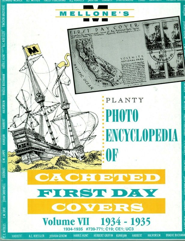 Mellone Planty Photo Encyclopedia First Day Covers 1934-35 Volume VII Bound