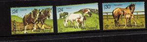 Horses of New Zealand  #B118-120 mnh Free Shipping