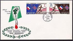 NEW HEBRIDES 1969 Sth Pacific Games FDC....................................68417