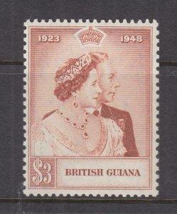 BRITISH GUIANA, 1949 Silver Wedding $ 3.00, mnh.