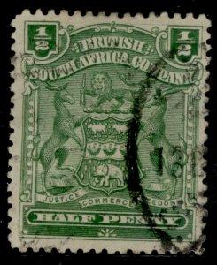 RHODESIA QV SG75, ½d dull bluish-green, FINE USED.