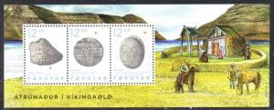 Faroe Islands Sc 650 2015 Viking Artifacts stamp sheet mint NH