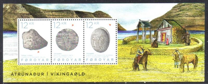 Faroe Islands Sc 650 2015 Viking Artifacts stamp sheet mint NH