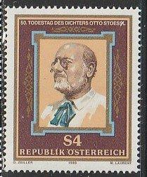 1986 Austria - Sc 1366 - MNH VF - 1 single - Otto Stoessi, Writer