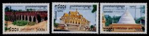 Cambodia 1853-5 MNH Dragon Bridge, Temple, Krapum Chhouk Stipa