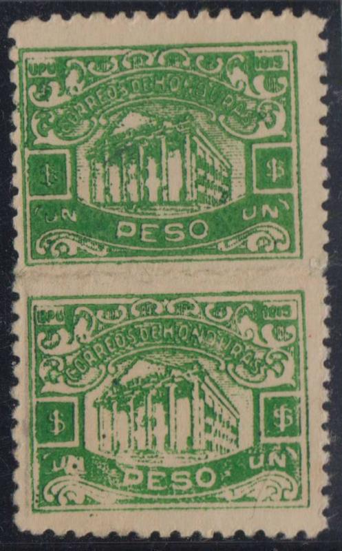 HONDURAS 1915-16 BONILLA THEATER Sc 181 PAIR HORIZONTALLY IMPERF UNUSED SCARCE