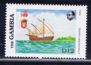 Gambia 795 NH 1988 Sailing Ship