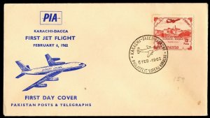 FFC KARACHI PAKISTAN TO DACCA: FIRST JET FLIGHT (K2887)