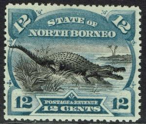 NORTH BORNEO 1894 CROCODILE 12C PERF 14